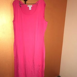 NWOT Jessica London Maxi Dress, 3X, pink